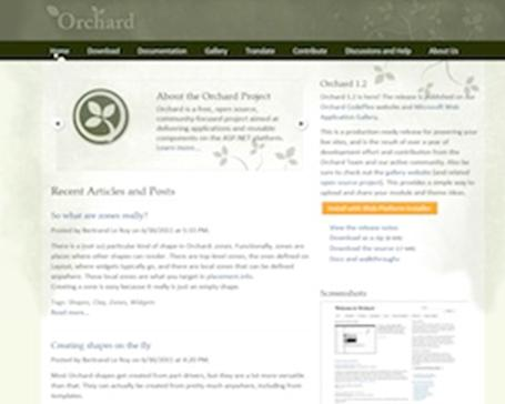 orchard home page