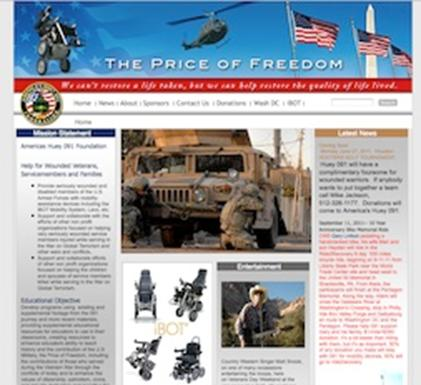 the huey091foundation website front page