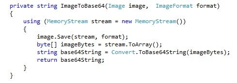 c# code to base64 encode iamge