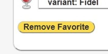 screengrab of remove favorite button