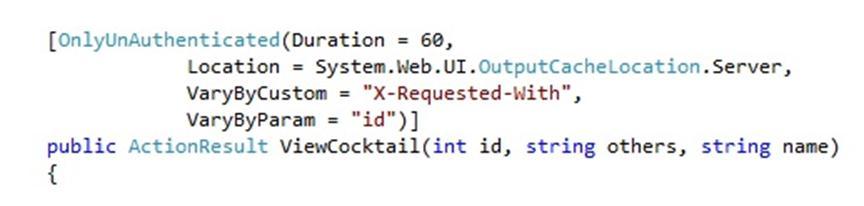 Attribute code sample