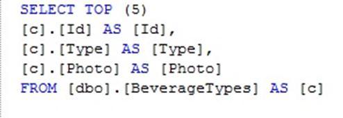 SQL output