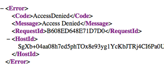 access denied xml