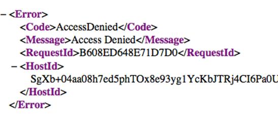 access denied xml