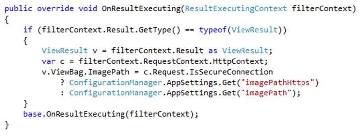 Code sample OnResultExecuting