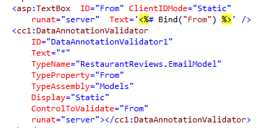 DataAnnotationValidator in aspx source